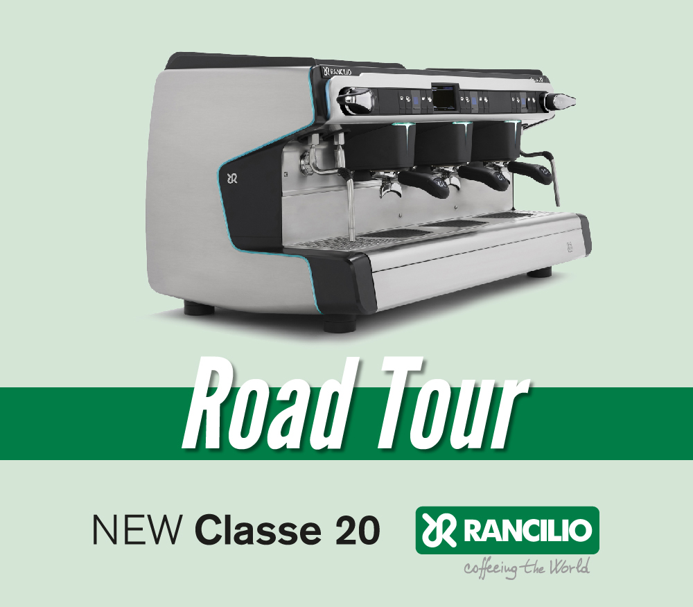 Rancilio Classe 20 launched with a roadshow in Italy