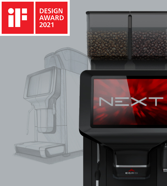 Egro Next Touch Coffee among the winners of the iF DESIGN AWARD